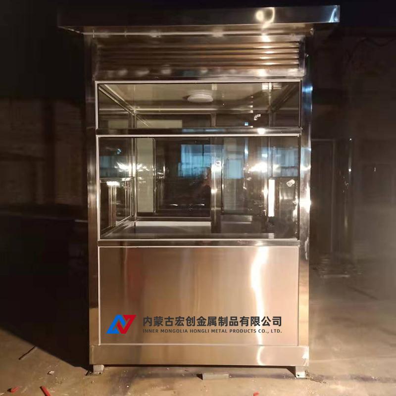 临河区政府定制2台不锈钢岗亭